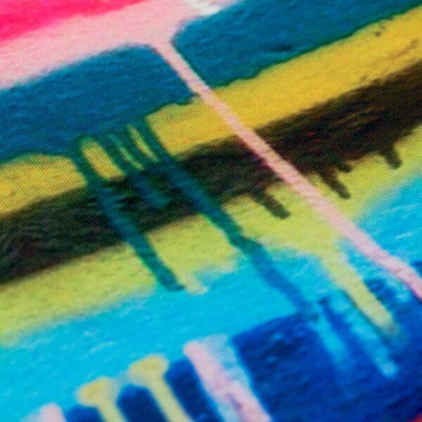 Orthopädische Gesichtsmaske Filter Farbwand Graffiti Design